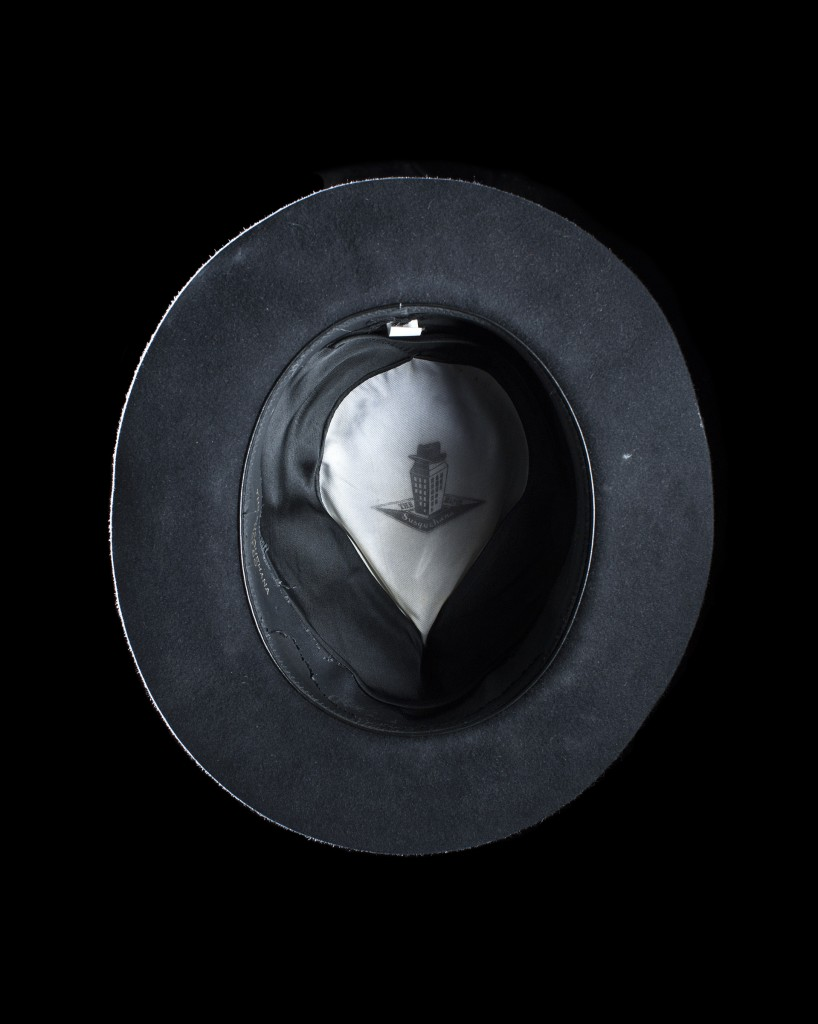 Photograph of the Photographers hat from the project Head Space.