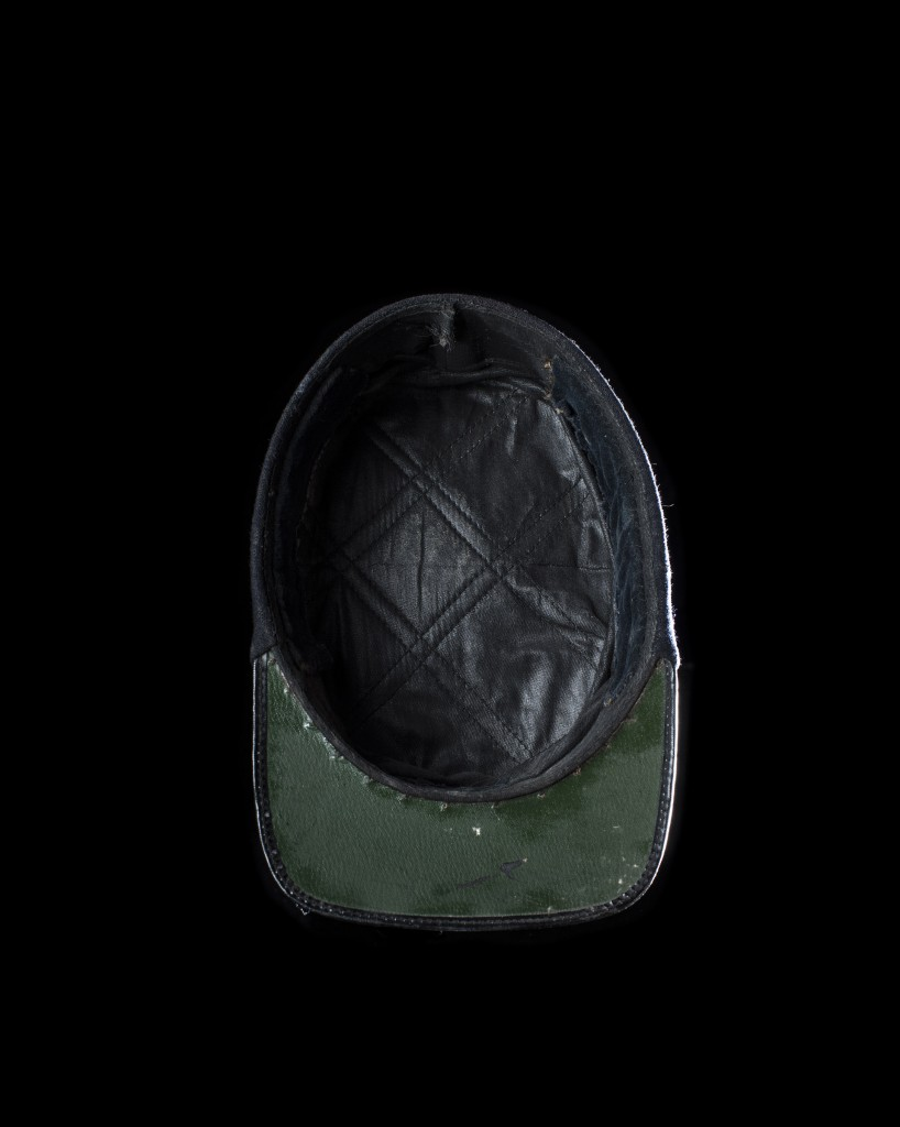 Photograph of a French Policeman's helmet from the project Head Space.