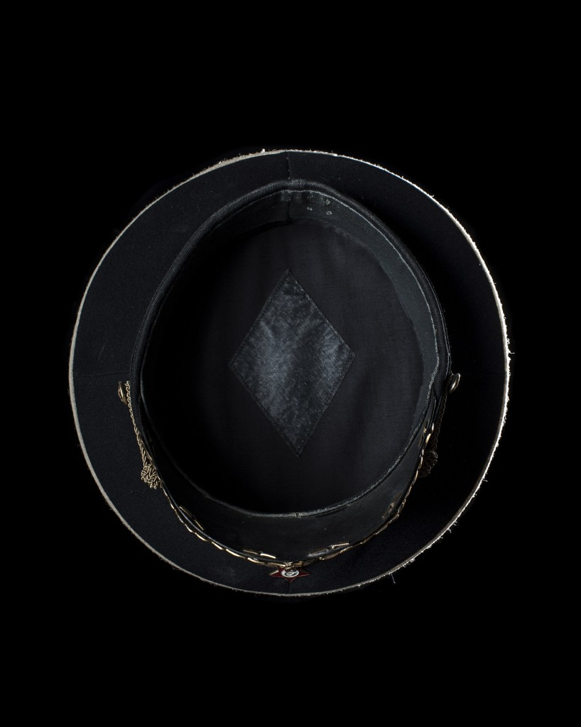 Photograph of a Chinese Policeman's helmet from the project Head Space.