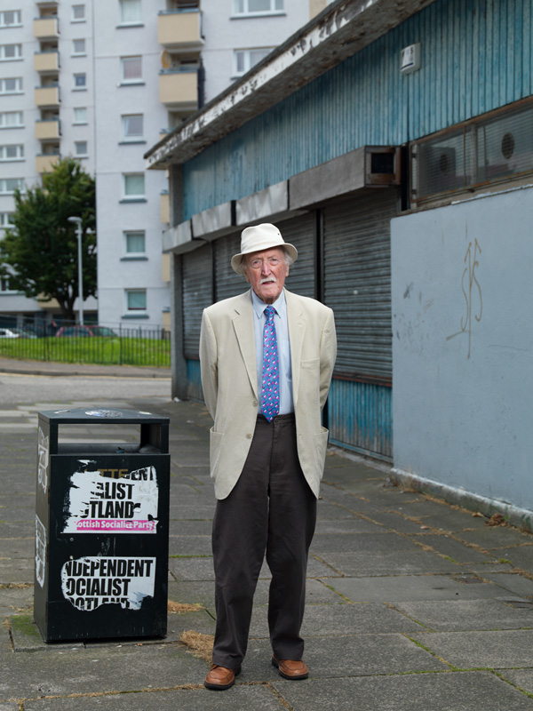George Pitcher, Community Activist Southsiders: Portrait of a Community is an artistic project by Peter Dibdin using both photography and audio, in print and online to celebrate and explore perceptions around the identity of the Southside community of Edinburgh, Scotland. All 32 portraits and their audio narratives can be viewed at http://www.edinburghsouthsiders.co.uk