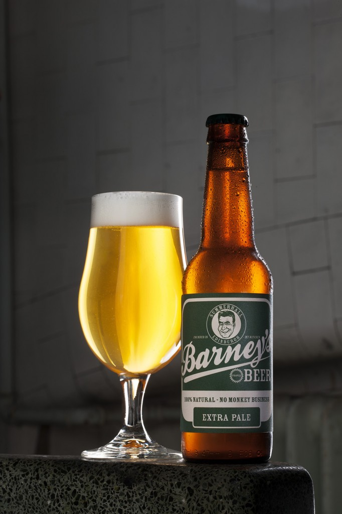 Product photography by Peter Dibdin drink photography for Barney's Beer