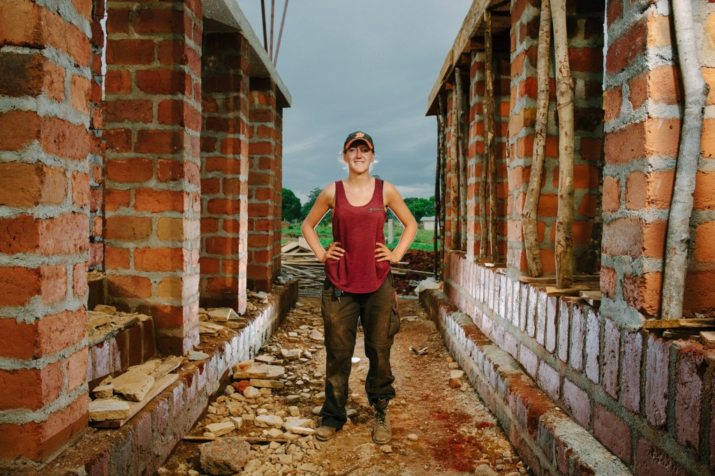 Kirsty Cassels is one of the volenteer project coordinators and achitects from Orkid studios for the build of the new Swawou school