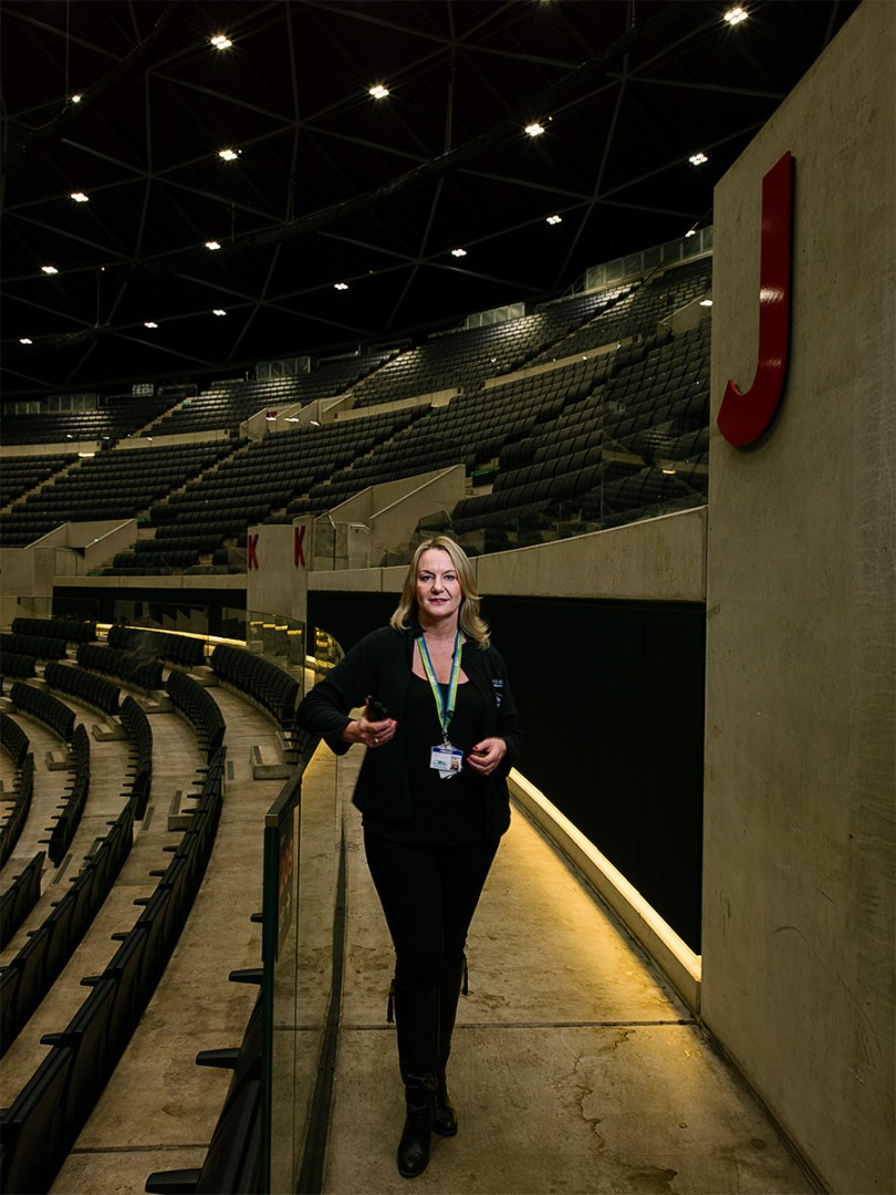 Sandra Lynch Head of Event Management at the SECC HYDRO, Glasgow. Shot for the GREEN CITY Exhibition at the Lighthouse, Glasgow.