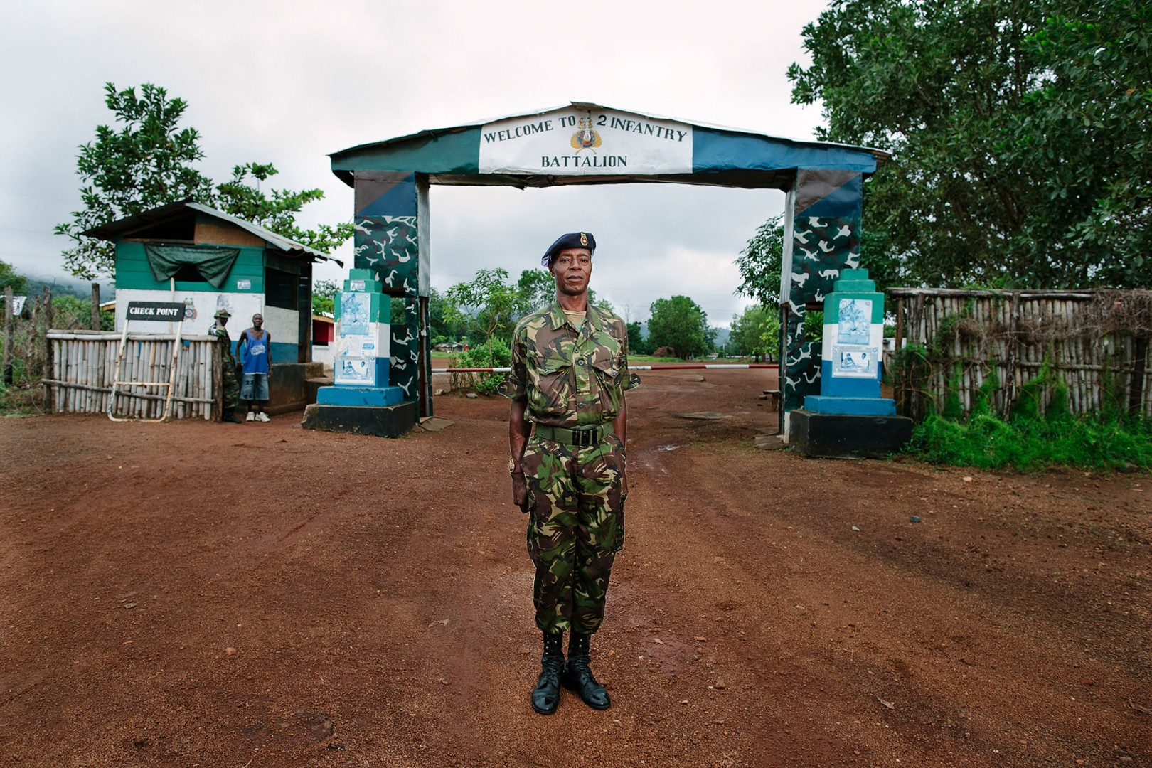 RSM Kamara, 2nd Infantry Battalion. The 2nd Infantry are neighbours to the location of the new Swawou School.